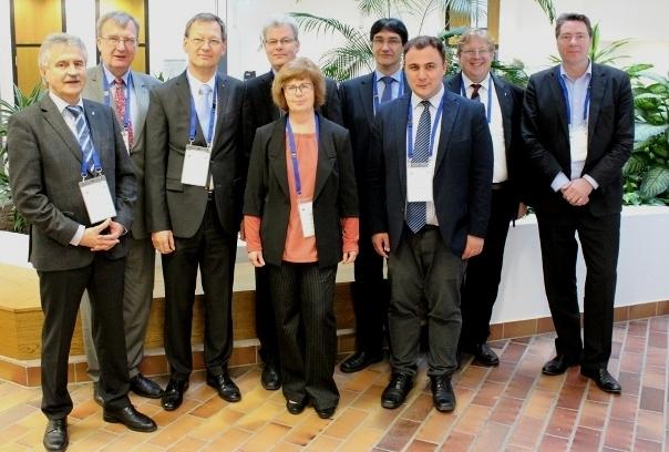 v.l.n.r.: Herr Wunderlich (IHK Chemnitz), Prof. Sepp (Uni Tartu), Prof. Baier (WHZ), Prof. Wrobel (WHZ), Prof. Walter (WHZ), Prof. Kassel (WHZ), Prof. Kolev (WHZ), PD Dr. Seliger (HSS Korea), Prof. Behr (WHZ).