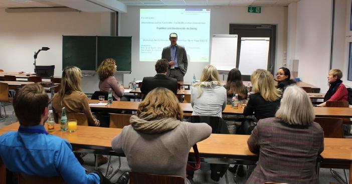 """Sandro Freudenberg vom NCCM Dresden im Workshop """"Unternehmen suchen Fachkräfte – Fachkräfte suchen Unternehmen"""""""